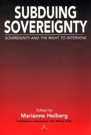 Cover of: Subduing Sovereignty