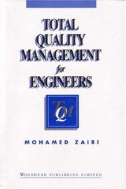 Cover of: Total quality management for engineers