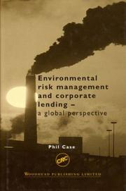 Cover of: Environmental risk management and corporate lending