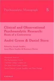 Cover of: Clinical and Observational Psychoanalytic Research