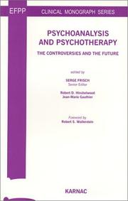 Cover of: Psychoanlysis and Psychotherapy | Serge Frisch