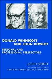 Cover of: Donald Winnicott and John Bowlby | Judith Issroff