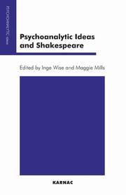 Psychoanalytic Ideas and Shakespeare (Psychoanalytic Ideas Series) by
