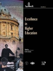 Cover of: Excellence in Higher Education (Wenner-Gren International)