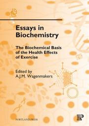 Cover of: The Biochemical Basis of the Health Effects of Exercise (Essays in Biochemistry)