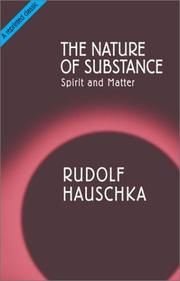 Cover of: The Nature of Substance | Rudolf Hauschka