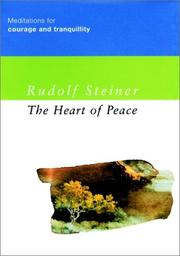 Cover of: The Heart of Peace | Rudolf Steiner