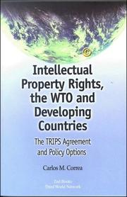 Cover of: Intellectual property rights, the WTO, and developing countries