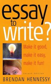 Cover of: Essay to Write? | Brendan Hennessy
