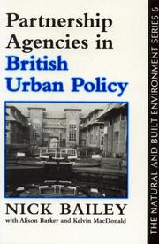 Cover of: Partnership agencies in British urban policy