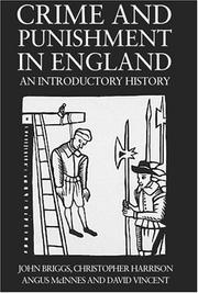 Cover of: Crime And Punishment In England