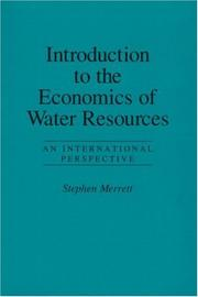 Cover of: Introduction to the economics of water resources