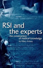 Cover of: RSI and the experts | Hilary Arksey
