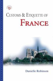 Cover of: Customs & Etiquette Of France (Simple Guides Customs and Etiquette)