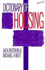 Cover of: A dictionary of housing