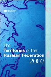 Cover of: The Territories of the Russian Federation 2003 (Territories of the Russian Federation) |