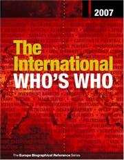 Cover of: The International Who