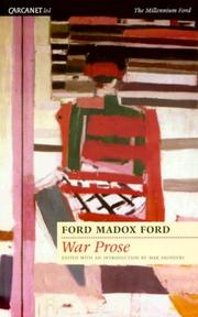Cover of: War prose