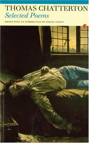 Cover of: Selected Poems: Thomas Chatterton