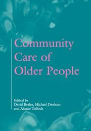 Cover of: Community care of older people |