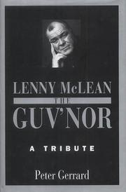 Cover of: Lenny McLean the Guv