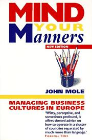 Cover of: Mind your manners