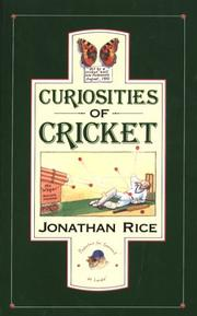 Cover of: Curiosities of Cricket