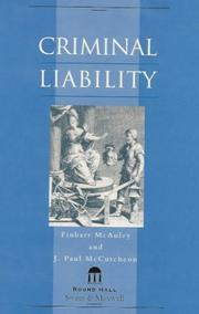 Cover of: Criminal liability