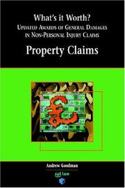 Cover of: What's It Worth? Awards Of General Damages In Non-personal Injury Claims