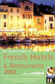 Cover of: The Rough guide to French Hotels & Restaurants, 2002