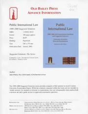 Cover of: Public International Law (Suggested Solutions)
