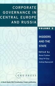 Cover of: Corporate Governance in Central Europe and Russia: Volume 2 |