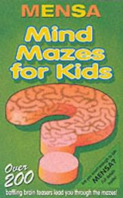 Cover of: Mensa Mind Mazes for Kids | Robert Allen