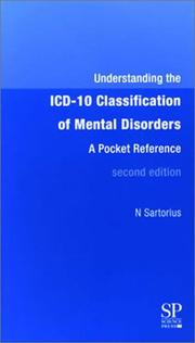 Cover of: Understanding the ICD-10 Classification of Mental Disorders | N. Sartorius