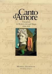 Cover of: Canto D'Amore