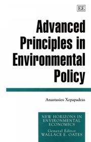 Cover of: Advanced principles in environmental policy