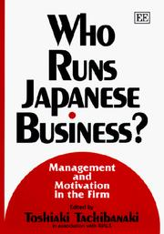Who Runs Japanese Business? by