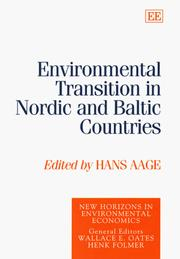 Cover of: Environmental transition in Nordic and Baltic countries |