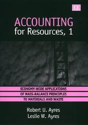Cover of: Accounting for resources