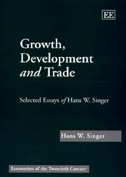 Cover of: Growth, development, and trade