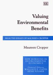 Cover of: Valuing environmental benefits