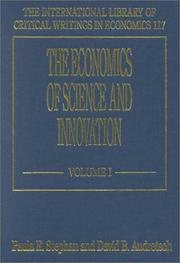 Cover of: The Economics of Science and Innovation (International Library of Critical Writings in Economics) |