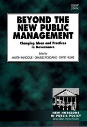 Cover of: Beyond the new public management