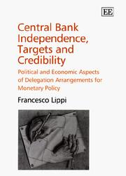 Cover of: Central bank independence, targets, and credibility