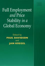 Cover of: Full Employment and Price Stability in a Global Economy