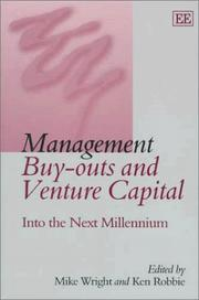 Cover of: Management Buy-Outs and Venture Capital  |