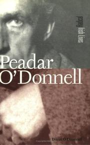 Cover of: Paedar O'Donnell (Radical Irish Lives)
