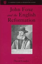 Cover of: John Foxe and the English Reformation |
