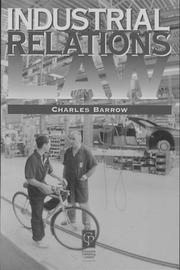 Cover of: Industrial relations law | Charles Barrow