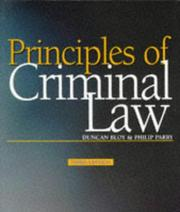 Cover of: Criminal Law (Principles Of Law) | Duncan Bloy